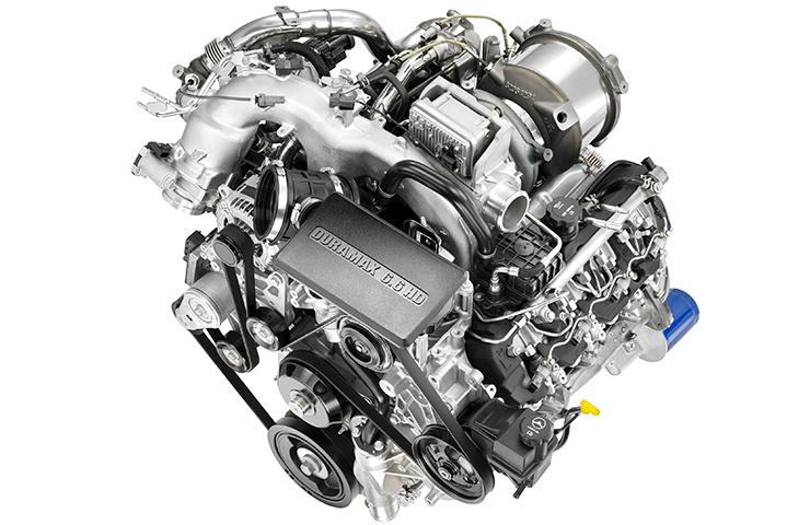Caractéristiques de fonctionnement du moteur diesel 6.6L Duramax